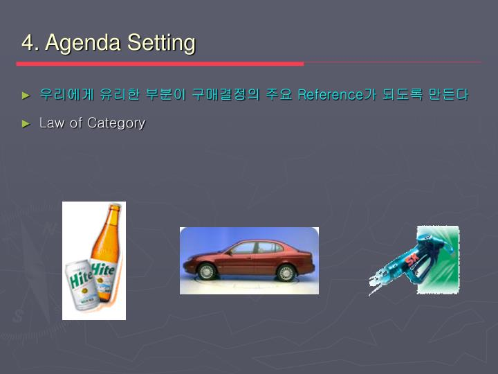 4. Agenda Setting