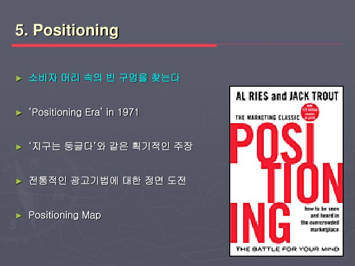 5. Positioning