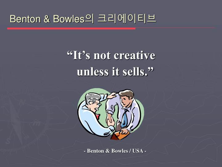 Benton & Bowles