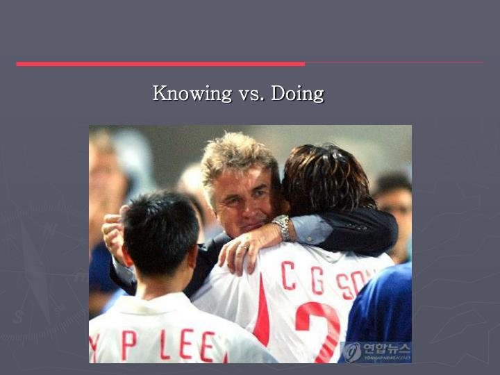 Knowing vs. Doing