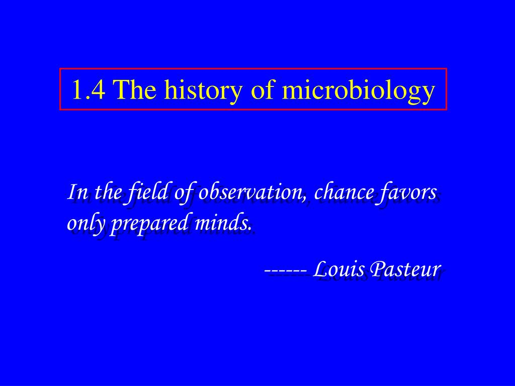 1.4 The history of microbiology