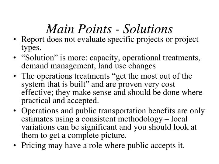 Main Points - Solutions