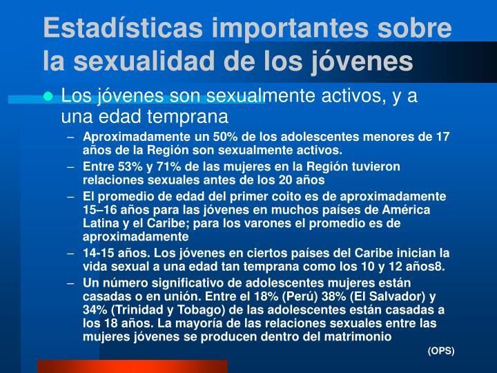 Estadísticas importantes sobre la sexualidad de los jóvenes