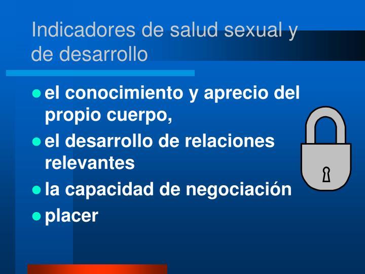 Indicadores de salud sexual y