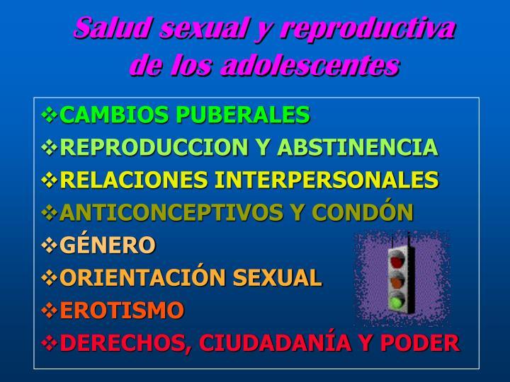 Salud sexual y reproductiva de los adolescentes