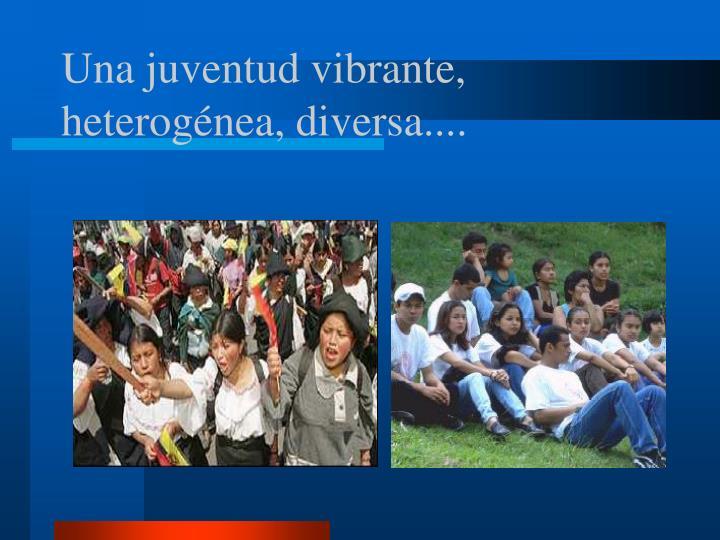Una juventud vibrante, heterogénea, diversa....