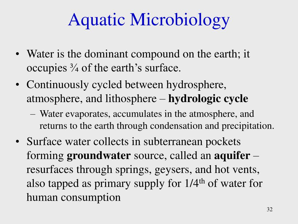 Aquatic Microbiology