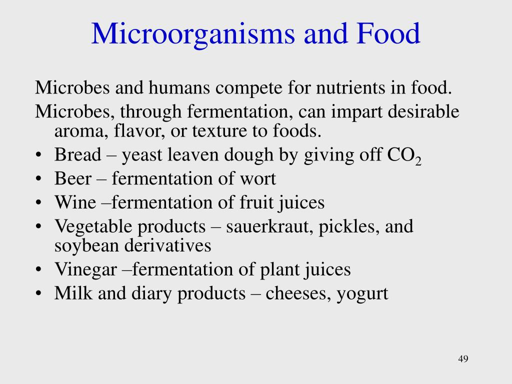Microorganisms and Food