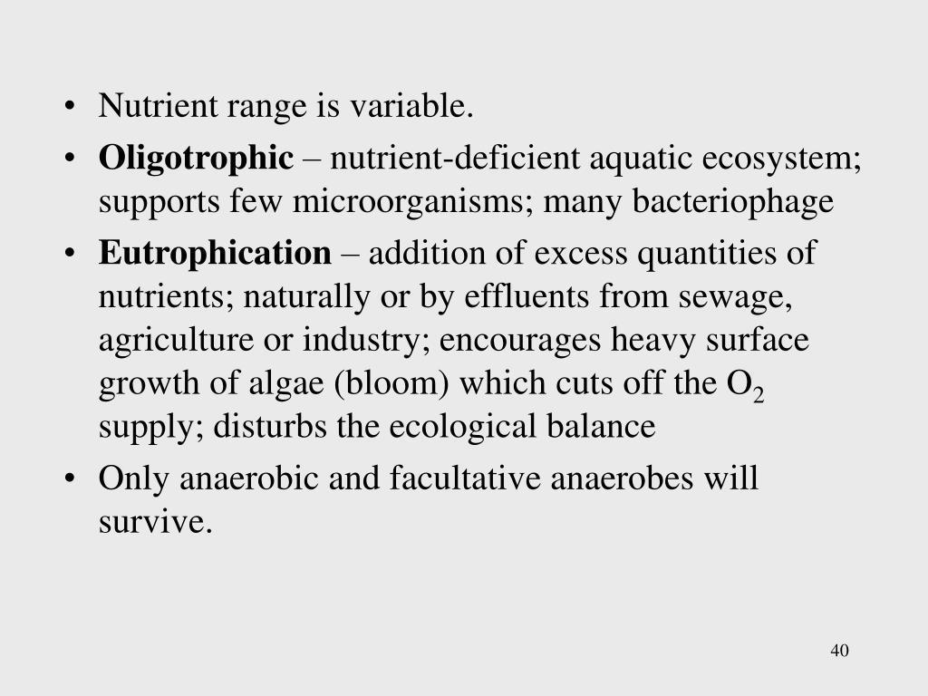 Nutrient range is variable.
