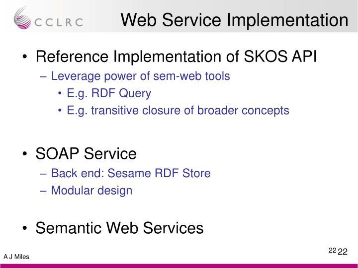 Web Service Implementation