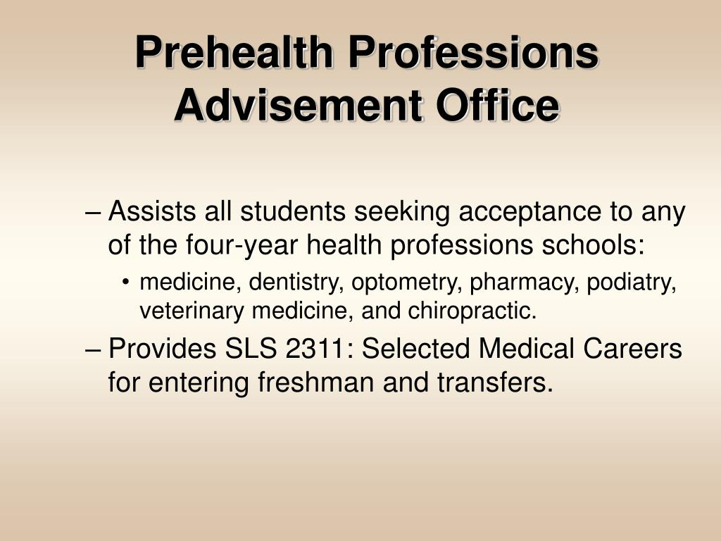 Prehealth Professions Advisement Office