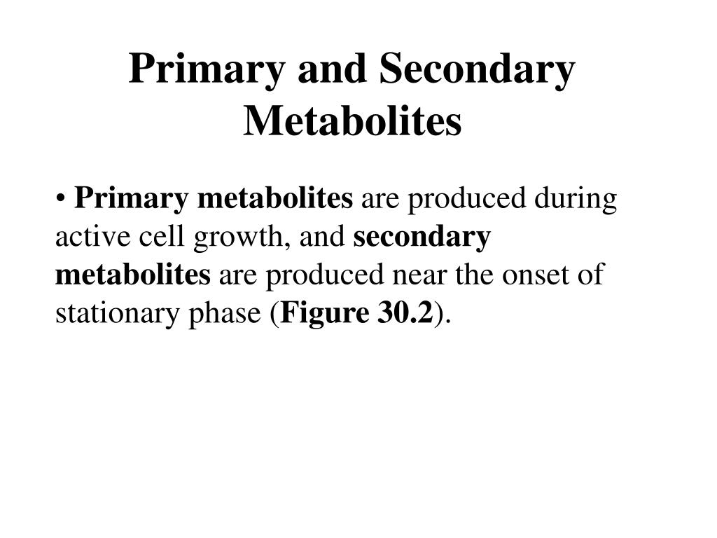 Primary and Secondary Metabolites