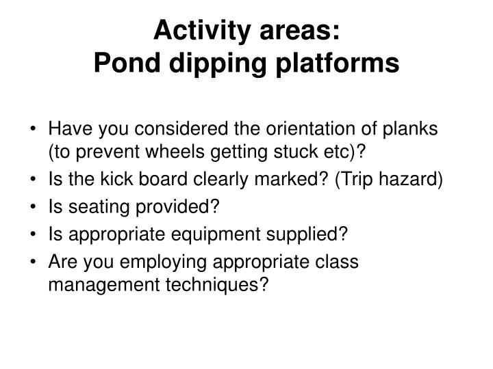 Activity areas: