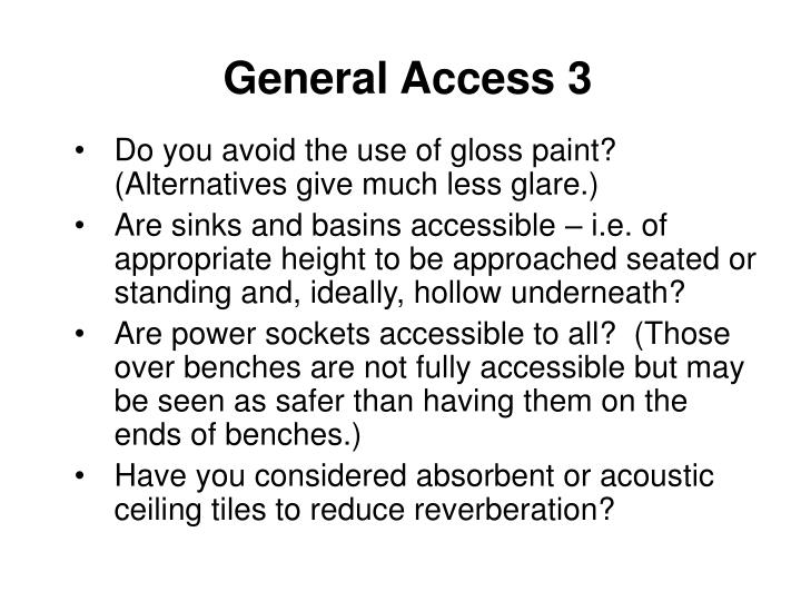General Access 3