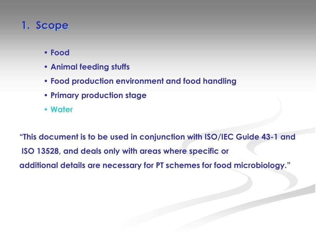 1.  Scope