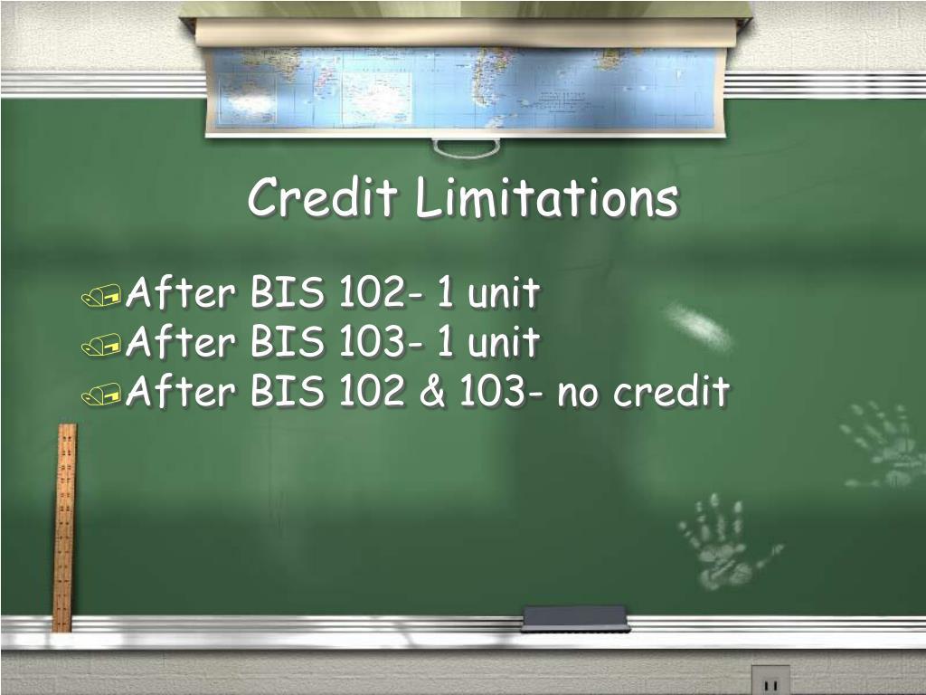 Credit Limitations