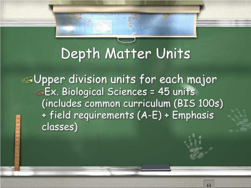 Depth Matter Units