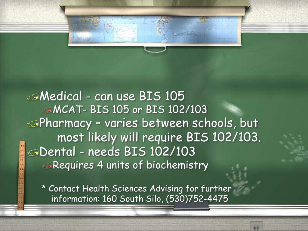 Medical - can use BIS 105