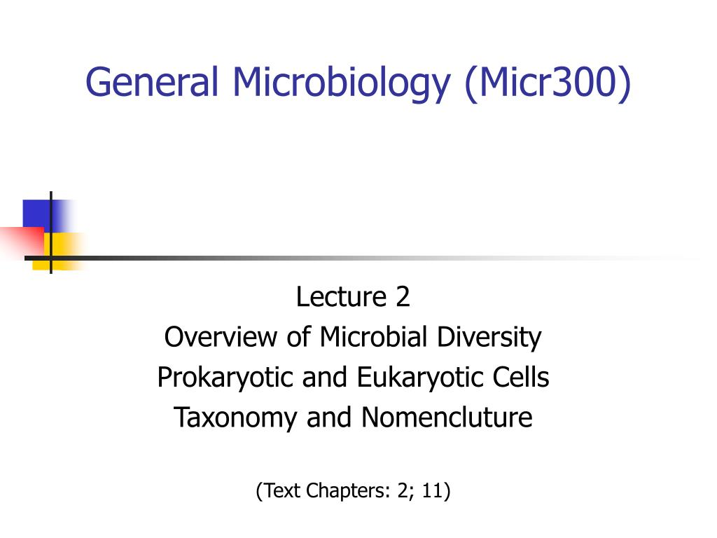 General Microbiology (Micr300)