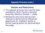 appeals process cont