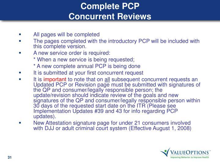 Complete PCP