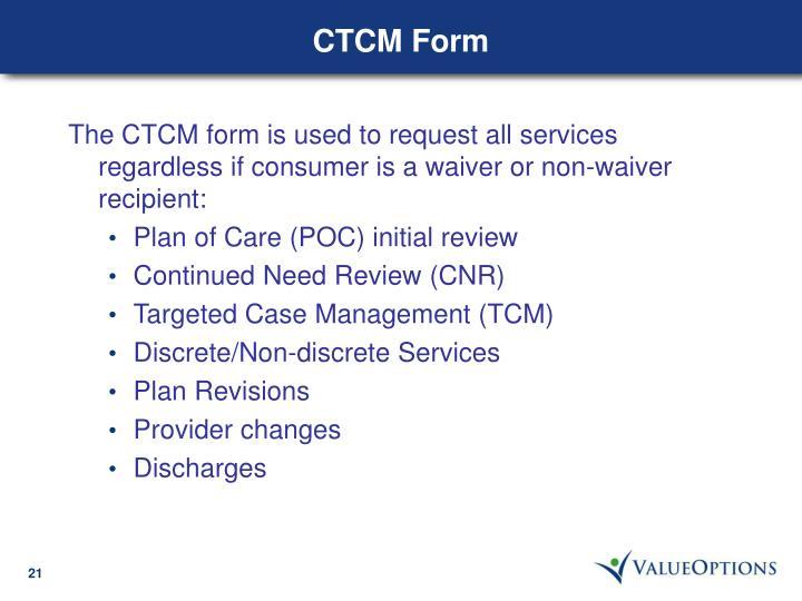 CTCM Form