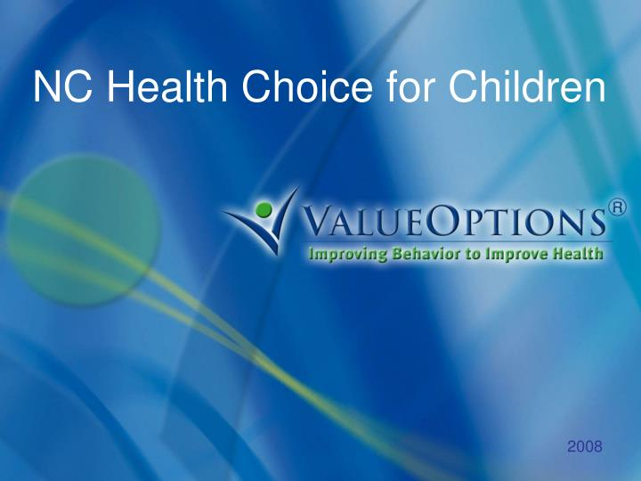 NC Health Choice for Children