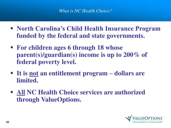 What is NC Health Choice?