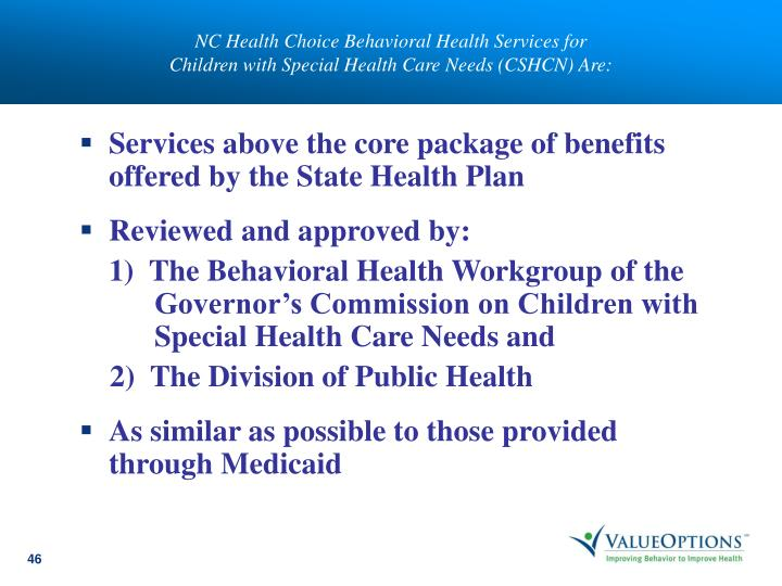 NC Health Choice Behavioral Health Services for