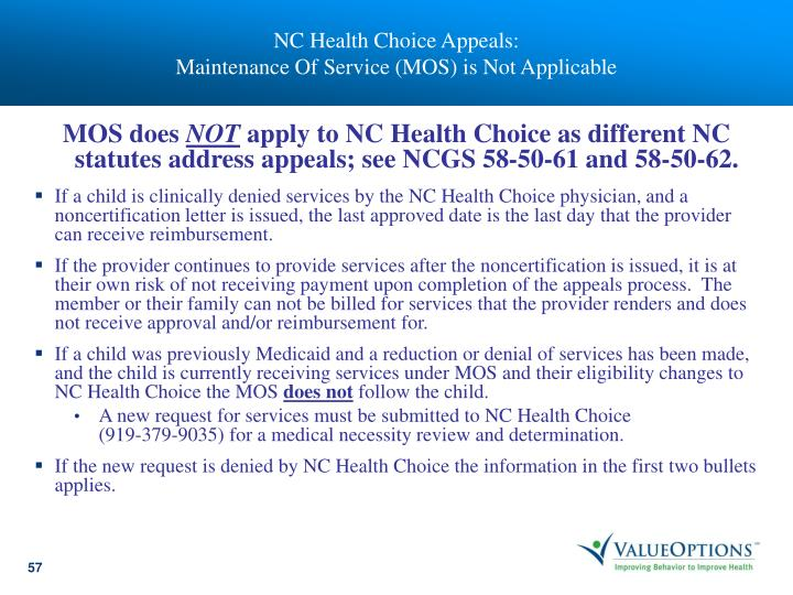 NC Health Choice Appeals:
