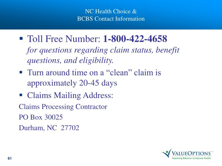 NC Health Choice &
