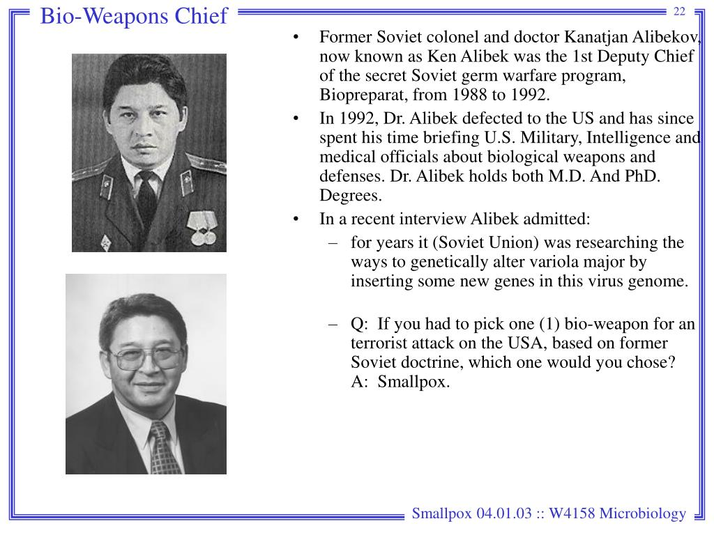Bio-Weapons Chief