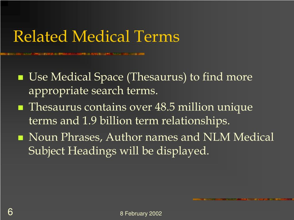 Related Medical Terms