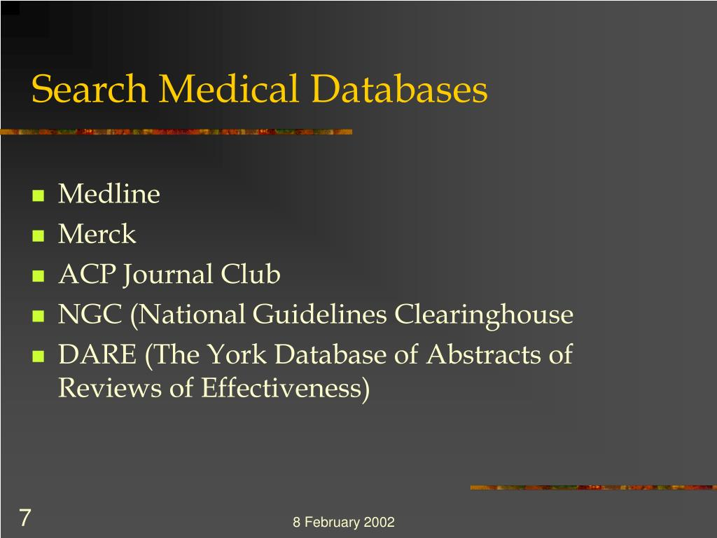 Search Medical Databases