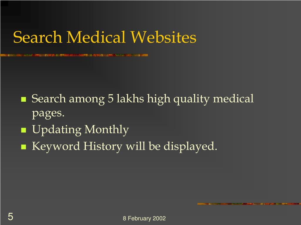 Search Medical Websites