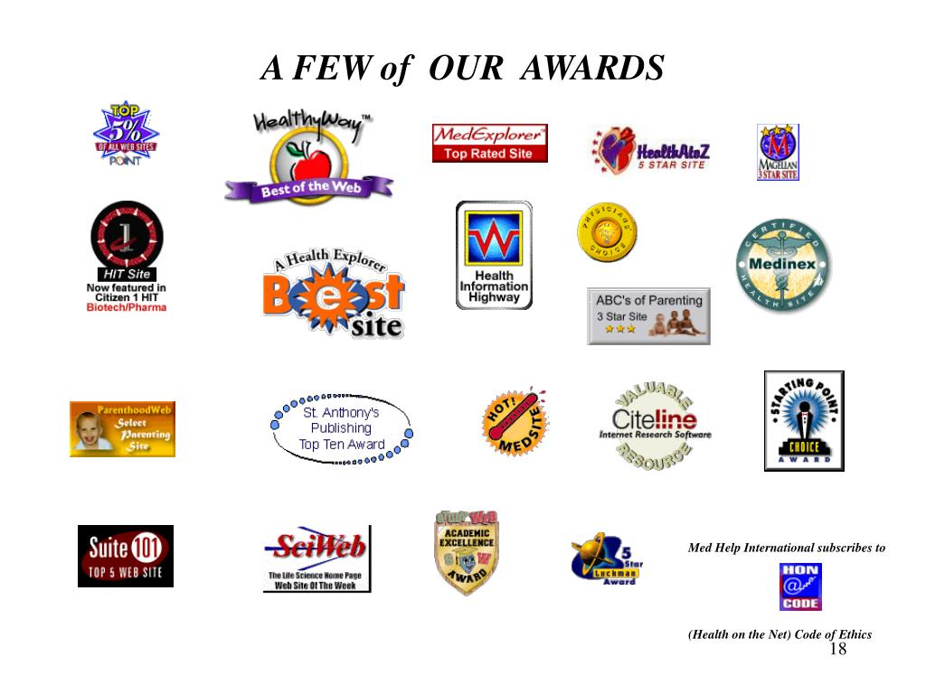 A FEW of  OUR  AWARDS