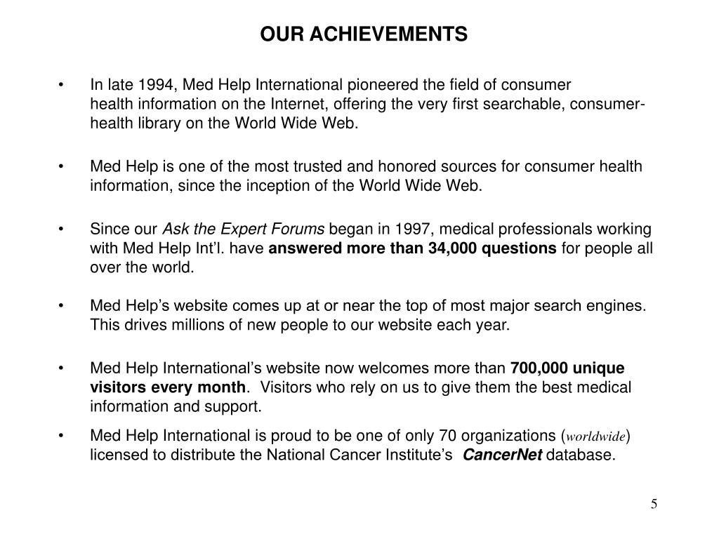 OUR ACHIEVEMENTS