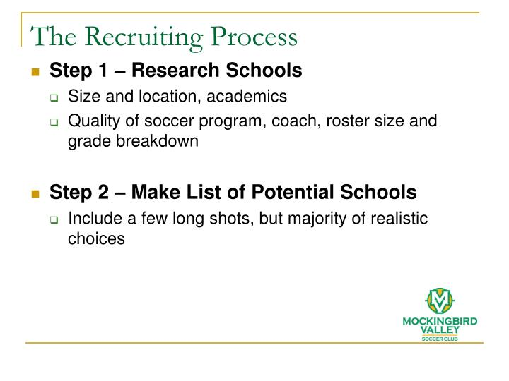 The Recruiting Process