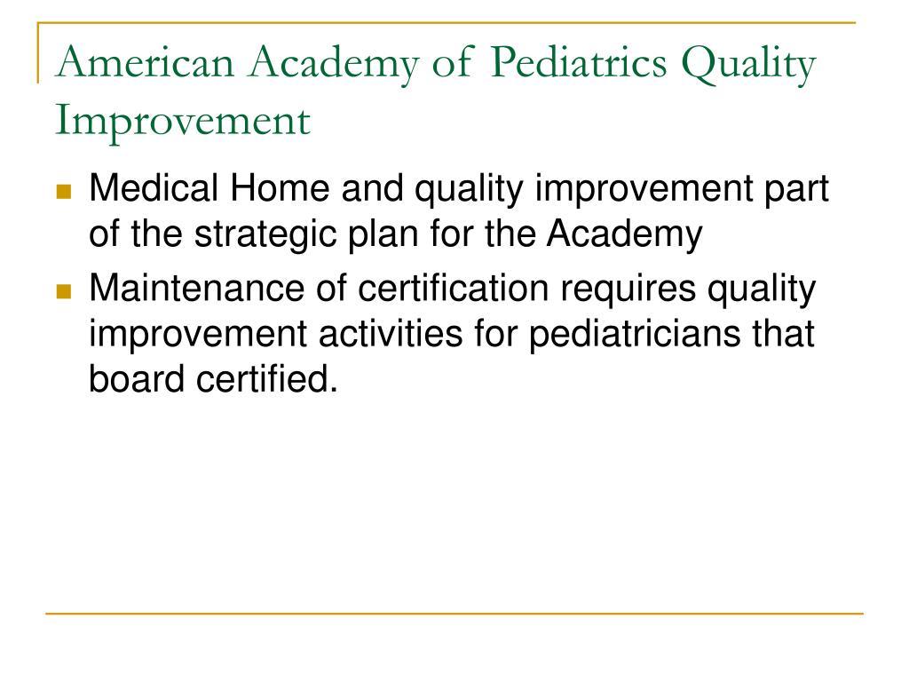 American Academy of Pediatrics Quality Improvement