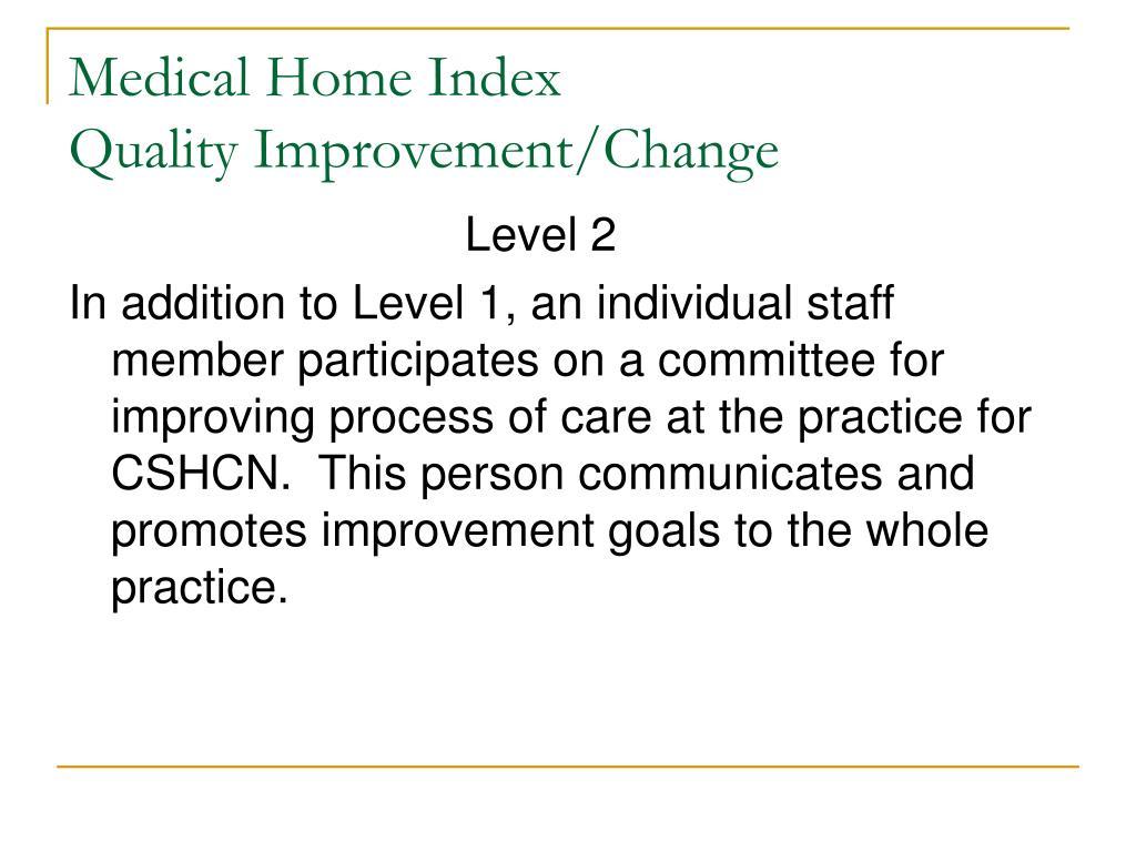 Medical Home Index