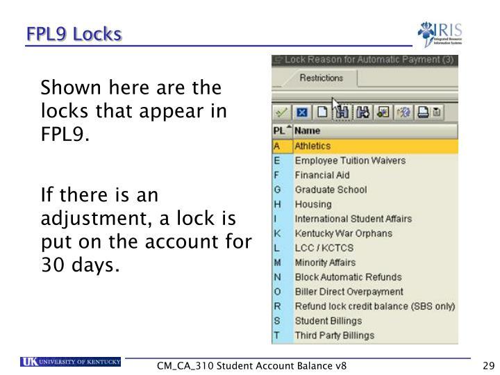 FPL9 Locks