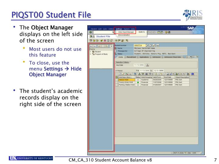 PIQST00 Student File