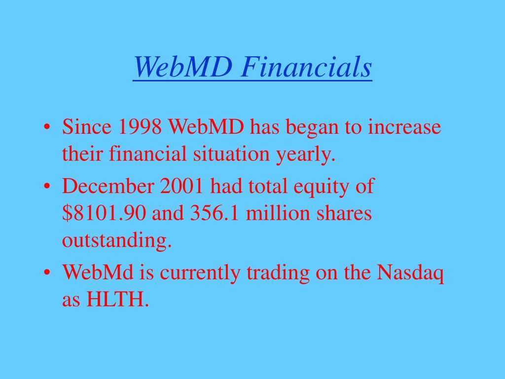 WebMD Financials