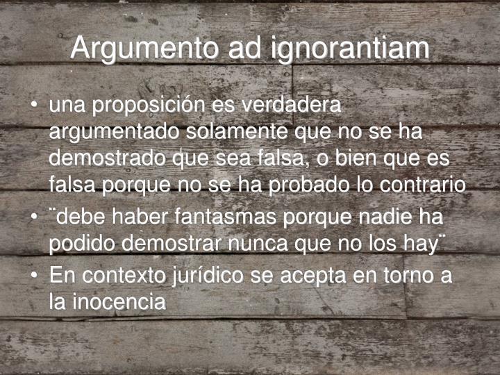 Argumento ad ignorantiam