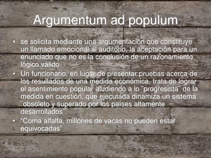 Argumentum ad populum