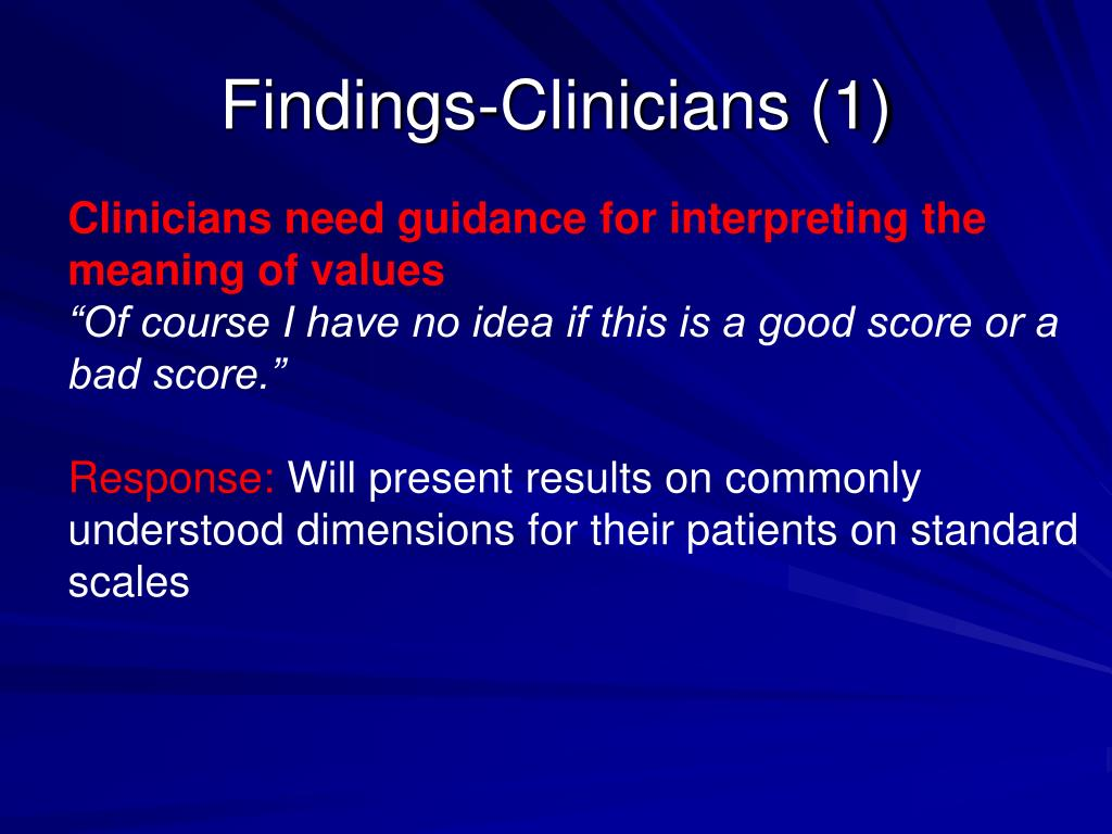Findings-Clinicians (1)