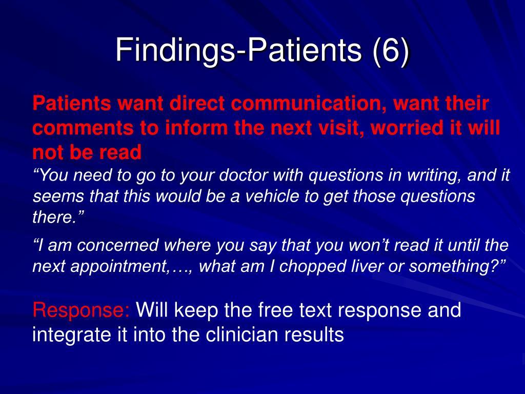 Findings-Patients (6)