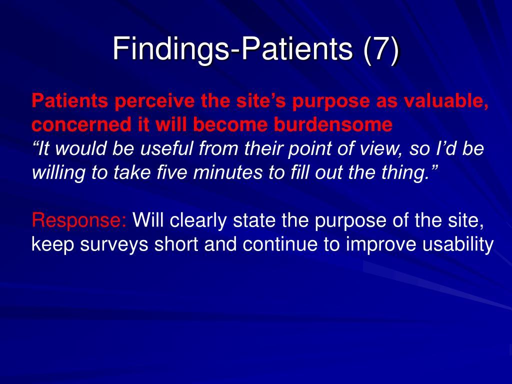 Findings-Patients (7)