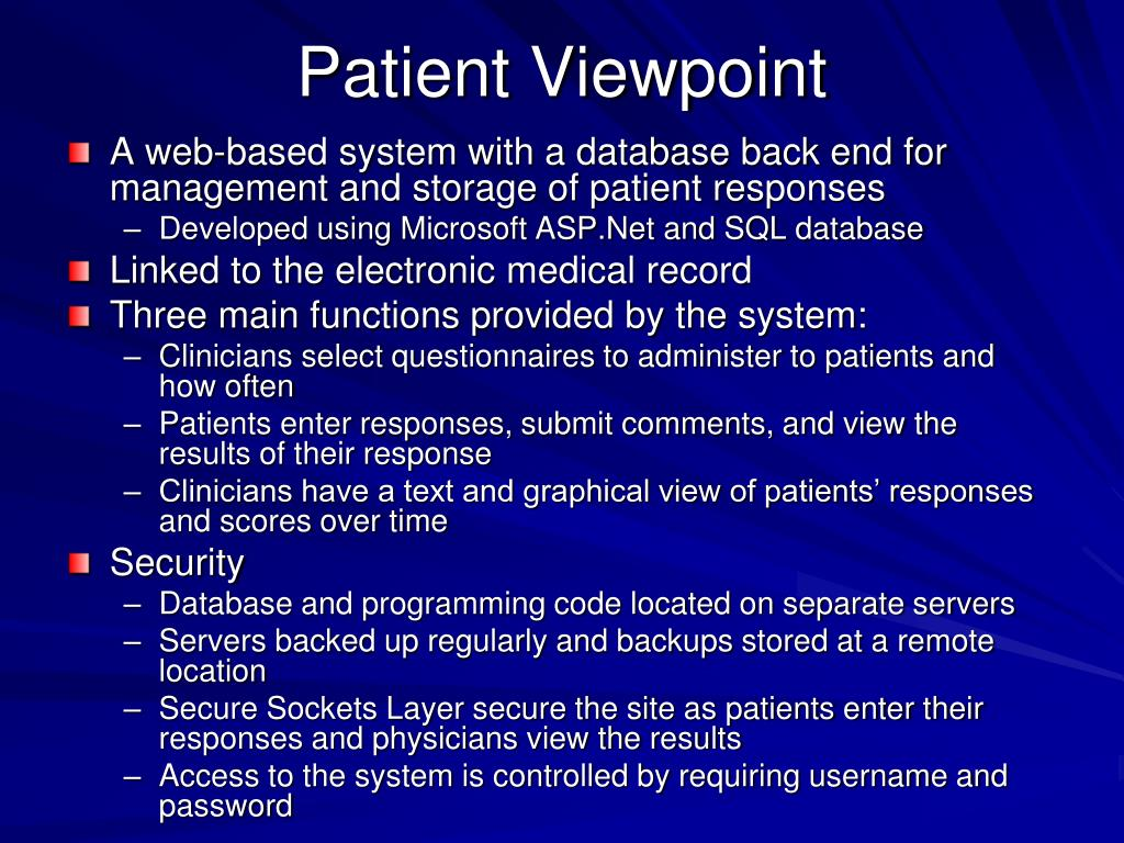 Patient Viewpoint