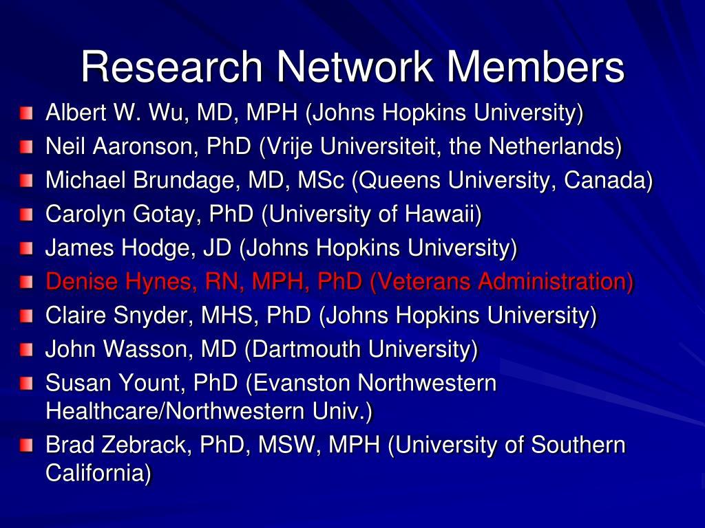Research Network Members